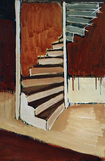 Staircase   Interior Oil Painting   Dion Archibald
