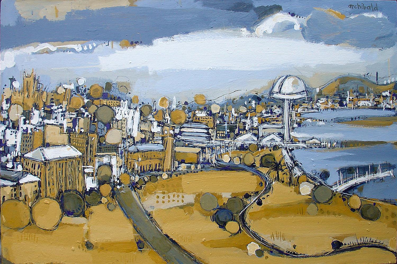 New newcastle cityscape for Australian mural artists