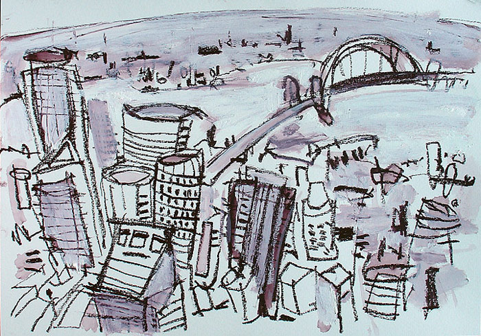 Sydney cityscape drawing